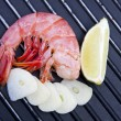 Fresh seafood, shrimp — Stock Photo