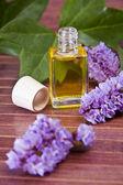 Bottle of perfume, cosmetics — Stock Photo