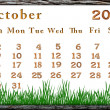 Calendar 2011 october — Stock Photo