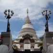 White pagoda in Wat Phra That Pha Ngao — Stock Photo #6985813