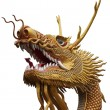 Golden chinese dragon statue — Stock Photo #6994178