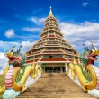 Beautiful temple on blue sky background — Stock Photo