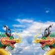 Golden chinese dragon statue — Stock Photo #7183065
