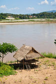 Cottages along the Mekong River — Stock Photo