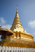 Golden pagoda in thai temple — Stock Photo