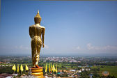 Golden Buddha in a temple of Nan Province, Thailand — Stock Photo