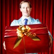 Stock Photo: Man with the gift