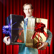 Stock Photo: Man with the gifts