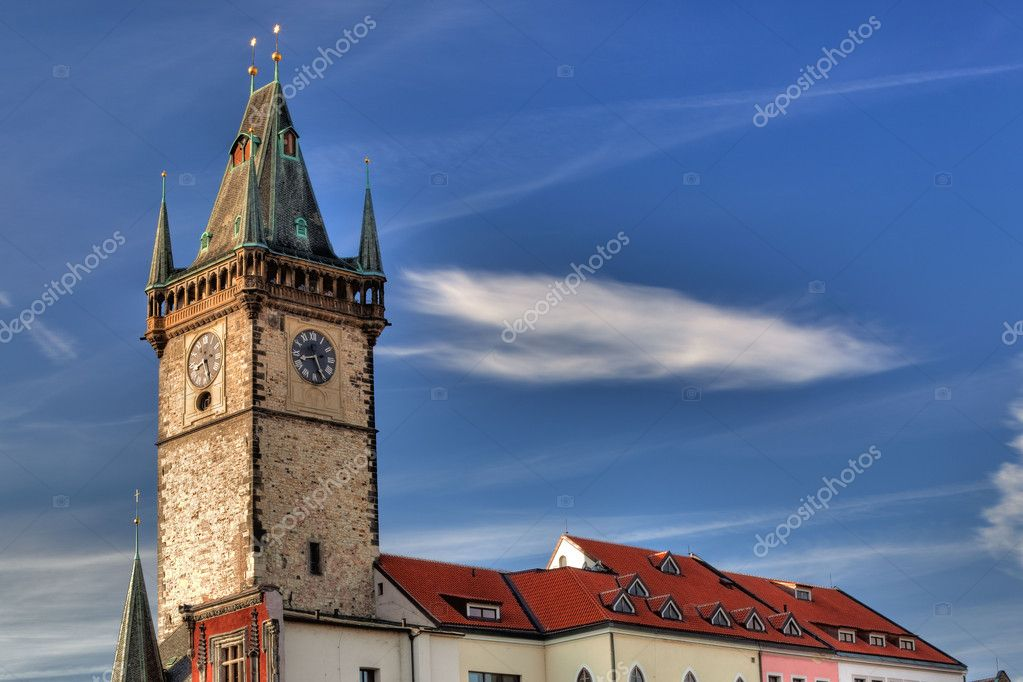 The famous city hall at the Old Town Square, Prague, Czech Republic  Stock Photo #6860639