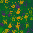 Colored handprints — Stock Photo #6947057