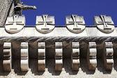 Fragmento de fachada palacio bussaco — Foto de Stock