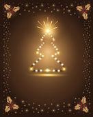 Christmas chocolate tree star — Stock Vector