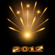 Fireworks happy new year 2012 — Stock Vector