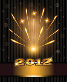 Fireworks congratulations new year 2012 — Stock Vector
