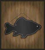 Raster Blackboard fish restaurant menu card — Stock Photo