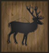 Raster Blackboard deer menu card — Stock Photo