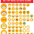 Stock Vector: Set of 56 real estate icons