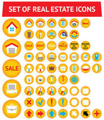 Set of 56 real estate icons — Stock Vector
