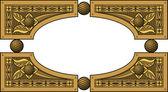 Marco de madera elíptica — Vector de stock