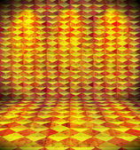 Gekleurd kamer met harlequin behang — Stockvector