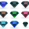 Set of beautiful gems — Stock Photo
