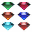 Set of beautiful gems — Foto de Stock