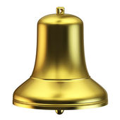Golden bell isolated — Foto Stock