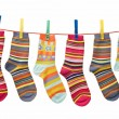 Socks on clothesline — Stock Photo #6956476