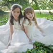 Stock Photo: Communion Girls