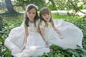 Communion Girls — Stock fotografie