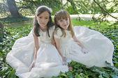 Meninas de comunhão — Foto Stock