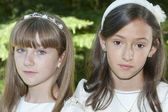 Communion Girls — Stock Photo