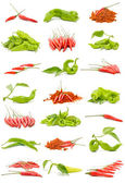 Chillies and peppers — Stock Photo