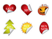 Collection of sale labels — Stock Photo
