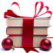 Gift wrapped books for Christmas — Foto de stock #7283884