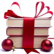 Gift wrapped books for Christmas — Stock Photo #7283884