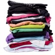 Lots of color on white washing and ironing clothes — Stock Photo #7471358