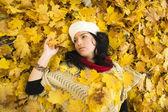 Autumn woman portrai — Stock Photo