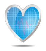 Diagnostics heart — Stock Vector