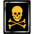 Danger sign with skull symbol — Stock Vector