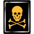 Danger sign with skull symbol - Stock Vector
