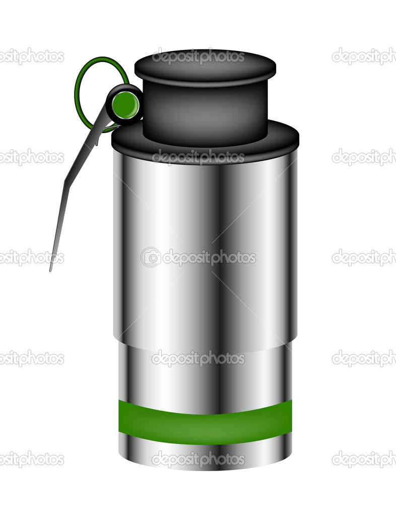Hand grenade (smoke bomb) isolated on white background  Stock Vector #7919904
