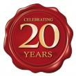 Celebrating 20 years - Imagen vectorial