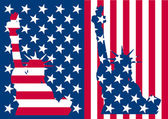 Usa bandery wolności — Wektor stockowy