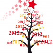 2012 xmas tree — Stock Vector