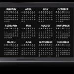 2012 electronic calendar — Stock Vector