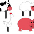 Farm animals — Stock Vector #7164625