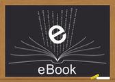 Ebook chalkboard — Stock Vector