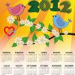 Stock Vector: 2012 bird calendar italian