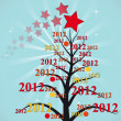Royalty-Free Stock Vector Image: 2012 xmas tree